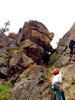 Rock Climbing at Emigrant Lake
