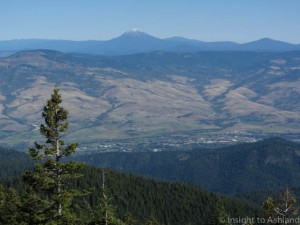 Ashland Oregon viewed from Wagner Butte
