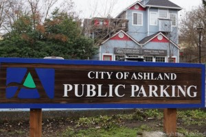 Ashland Parking sign