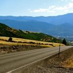View of Dead Indian Memorial Road towards Ashland, Oregon