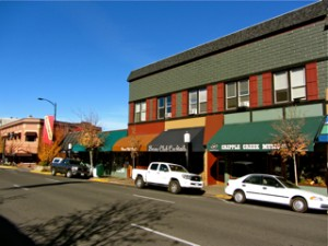 Main Street in downtown Ashland, Oregon