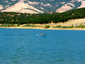 Motor Boating on Emigrant Lake