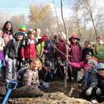Kids Planting Trees with Lomokatsi