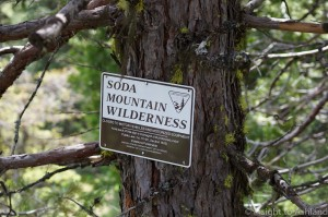 Soda Mountain WIlderness sign