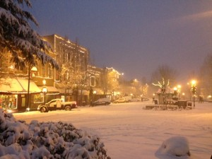 Downtown Ashland Oregon in Winter